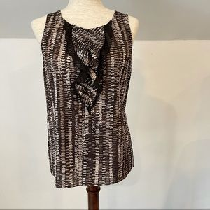 Ann Taylor sleeveless ruffle top size 4